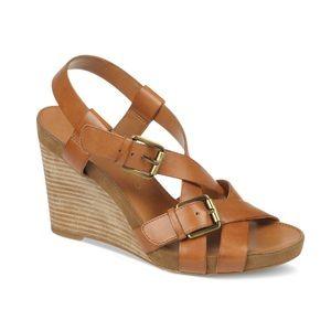 Franco Sarto Hallie Wedge Strappy Sandals 8.5